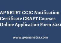 AP SBTET CCIC Notification Certificate CRAFT Courses