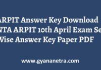 ARPIT Answer Key NTA Exam