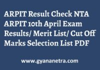 ARPIT Result NTA Exam
