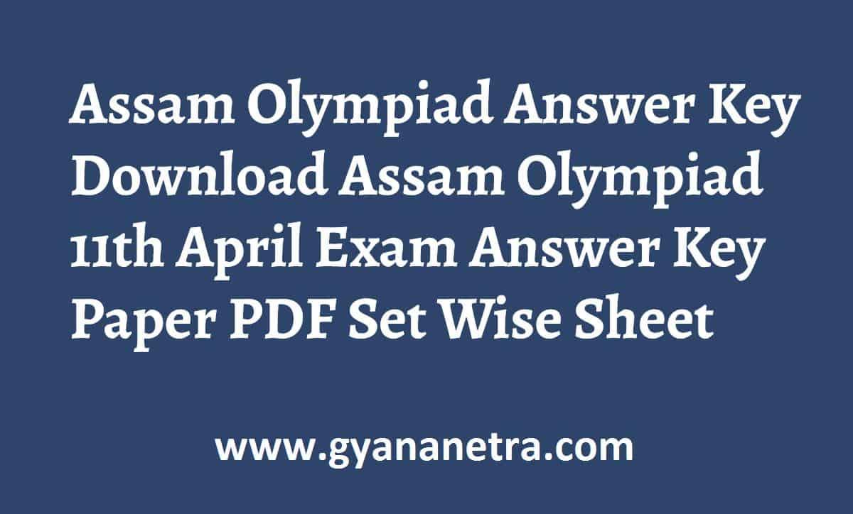Assam Olympiad Answer Key Paper PDF