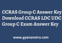 CCRAS Group C Answer Key Paper PDF