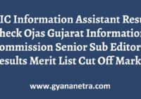 GIC Information Assistant Result Merit List