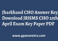 Jharkhand CHO Answer Key JRHMS