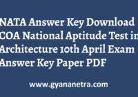 NATA Answer Key Paper PDF COA