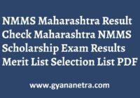 NMMS Maharashtra Result Merit List