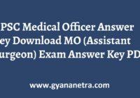 OPSC Medical Officer Answer Key Paper PDF