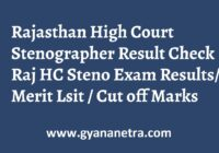 Rajasthan High Court Stenographer Result HCRAJ Merit ListRajasthan High Court Stenographer Result HCRAJ Merit List
