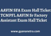 TCMPFL AAVIN SFA Hall Ticket Exam Date