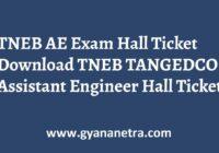 TNEB AE Hall Ticket Exam Date
