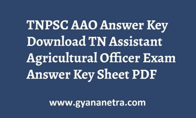 TNPSC AAO Answer Key Paper PDF