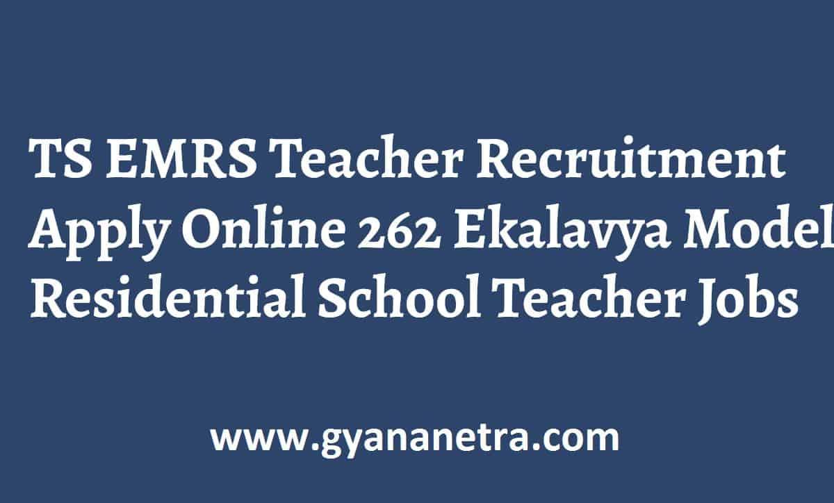 TS EMRS Teacher Recruitment Notification