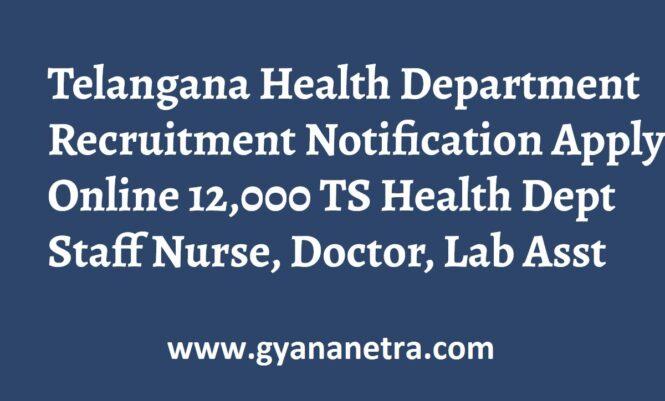 TS Health Department Recruitment Notification