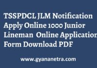 TSSPDCL JLM Notification Apply Online