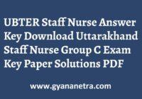 UBTER Staff Nurse Answer Key Group C Exam