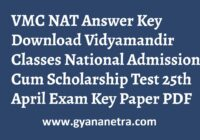 VMC NAT Answer Key Paper PDF