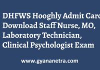 DHFWS Hooghly Admit Card Exam Date