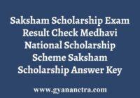 Saksham Scholarship Exam Result