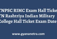 TNPSC RIMC Hall Ticket Exam Date