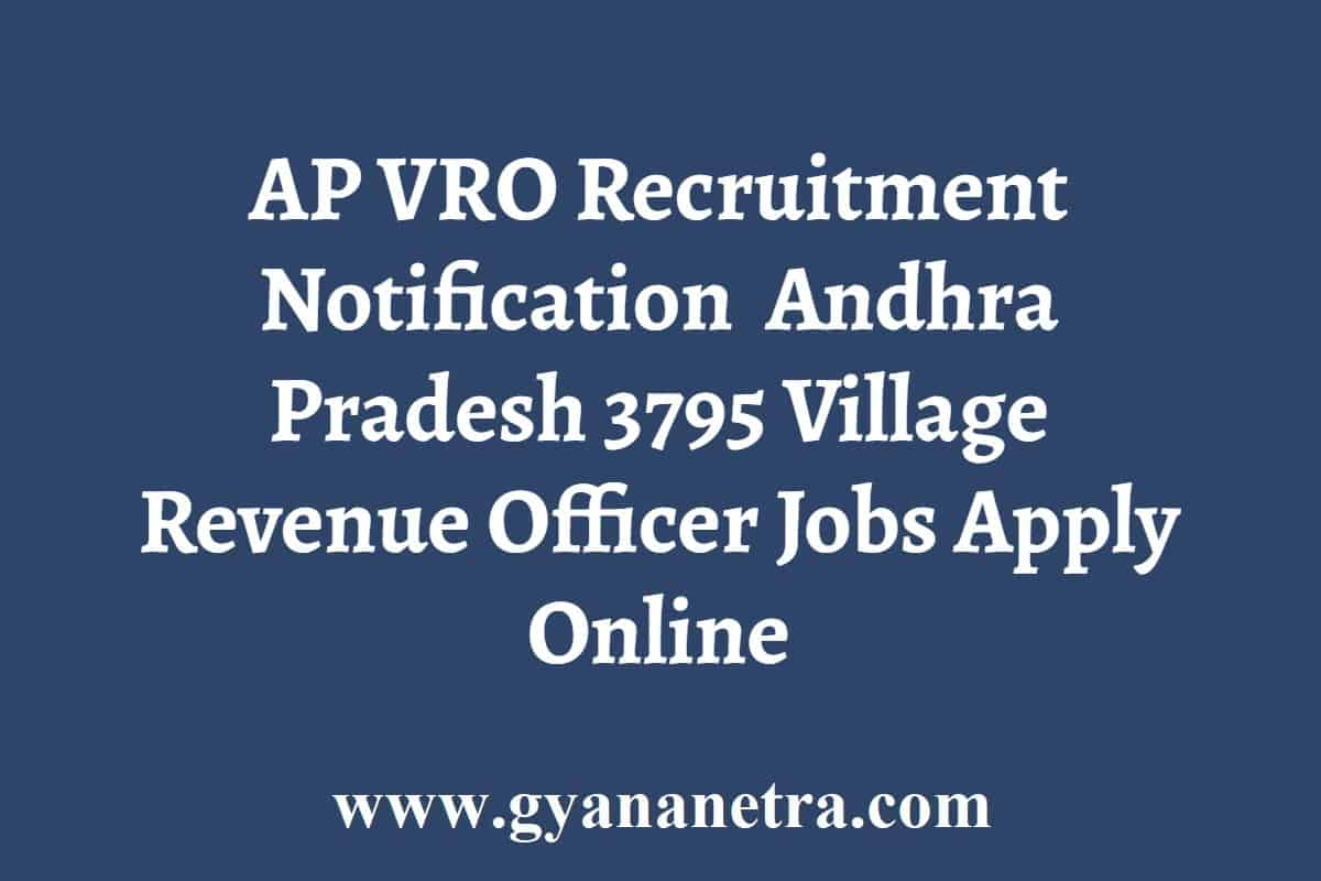 AP VRO Recruitment Notification