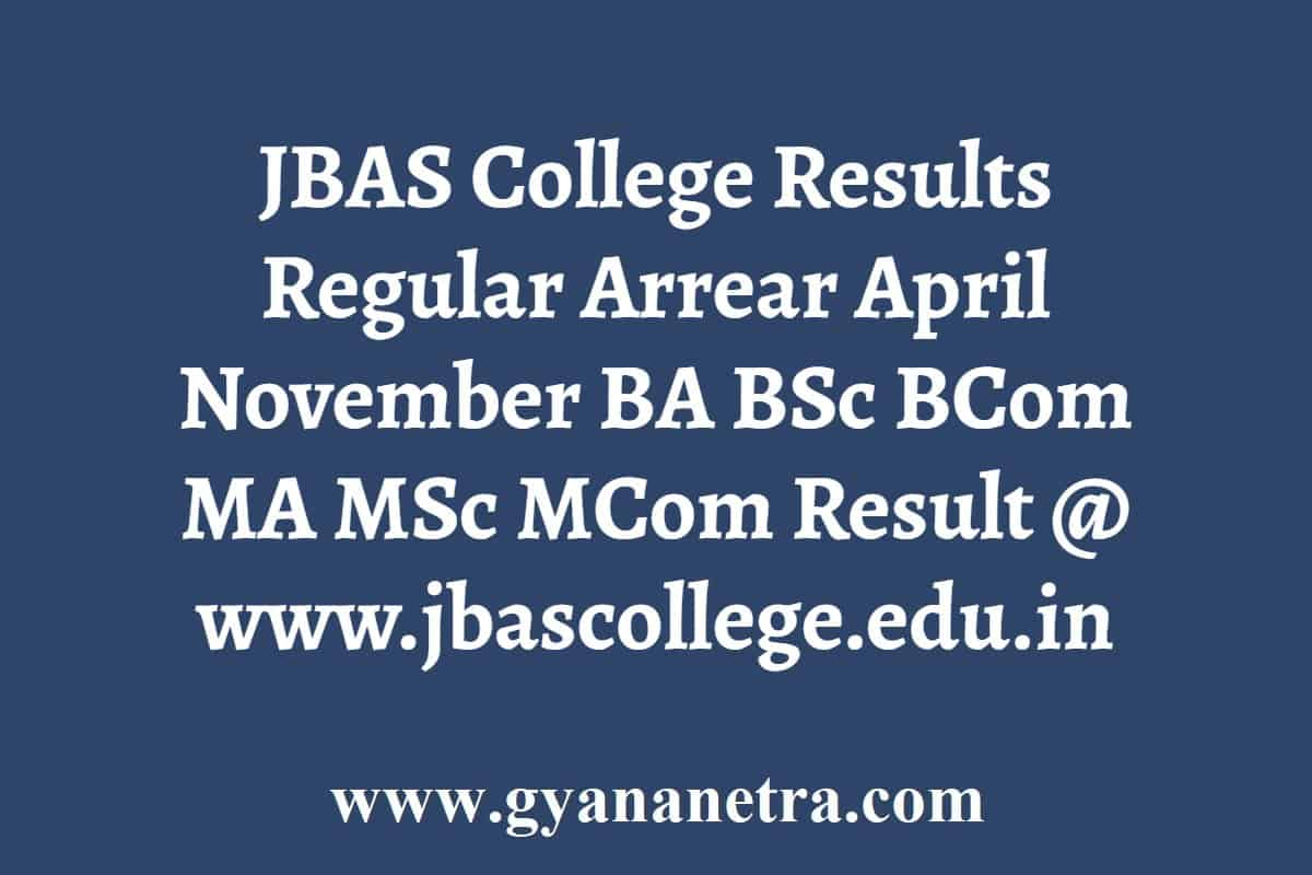 JBAS College Results