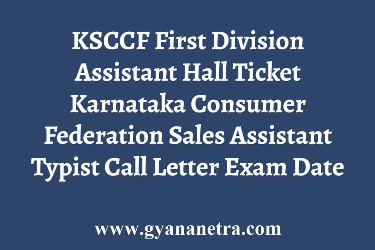 KSCCF FDA Hall Ticket
