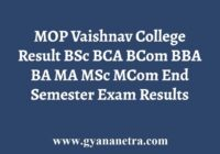 MOP Vaishnav College Result