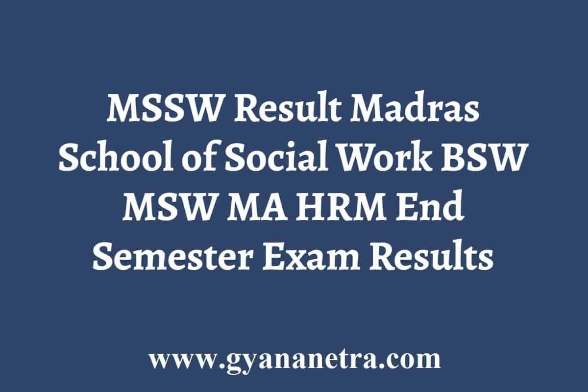 MSSW Result
