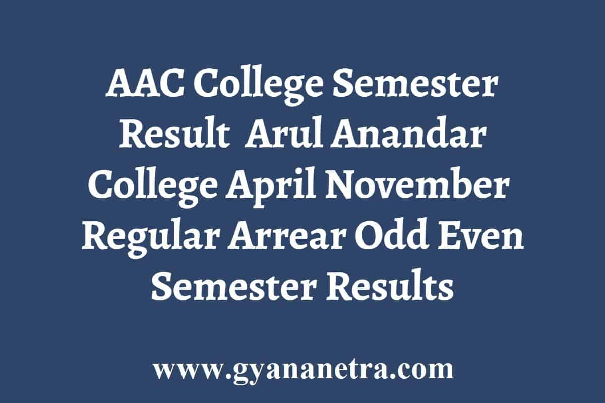 AAC College Semester Result