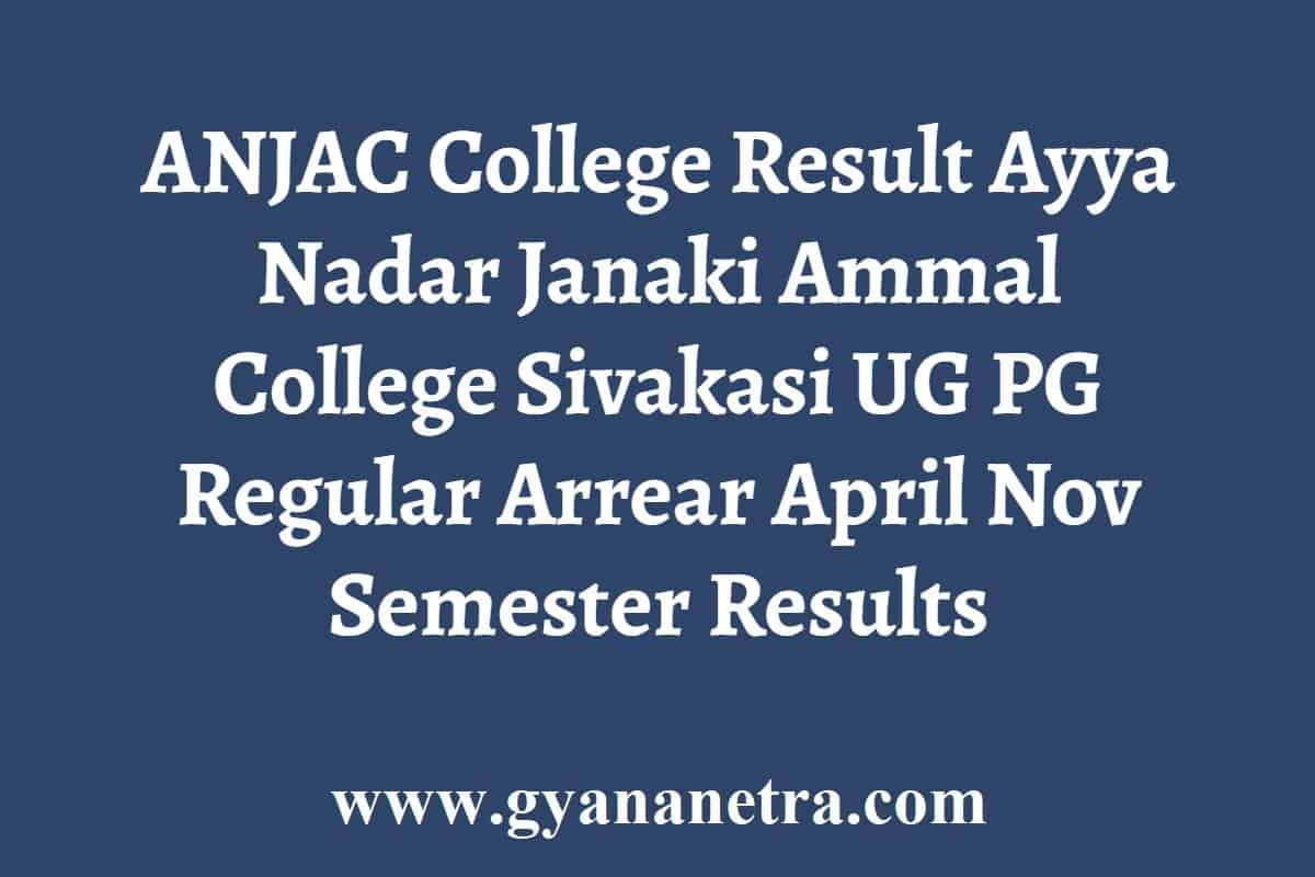ANJAC College Result