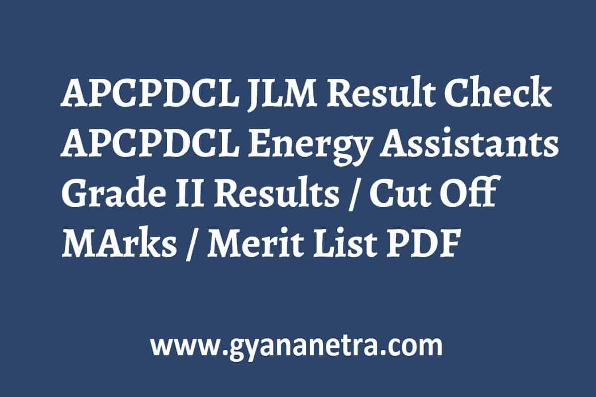 APCPDCL JLM Result Merit List
