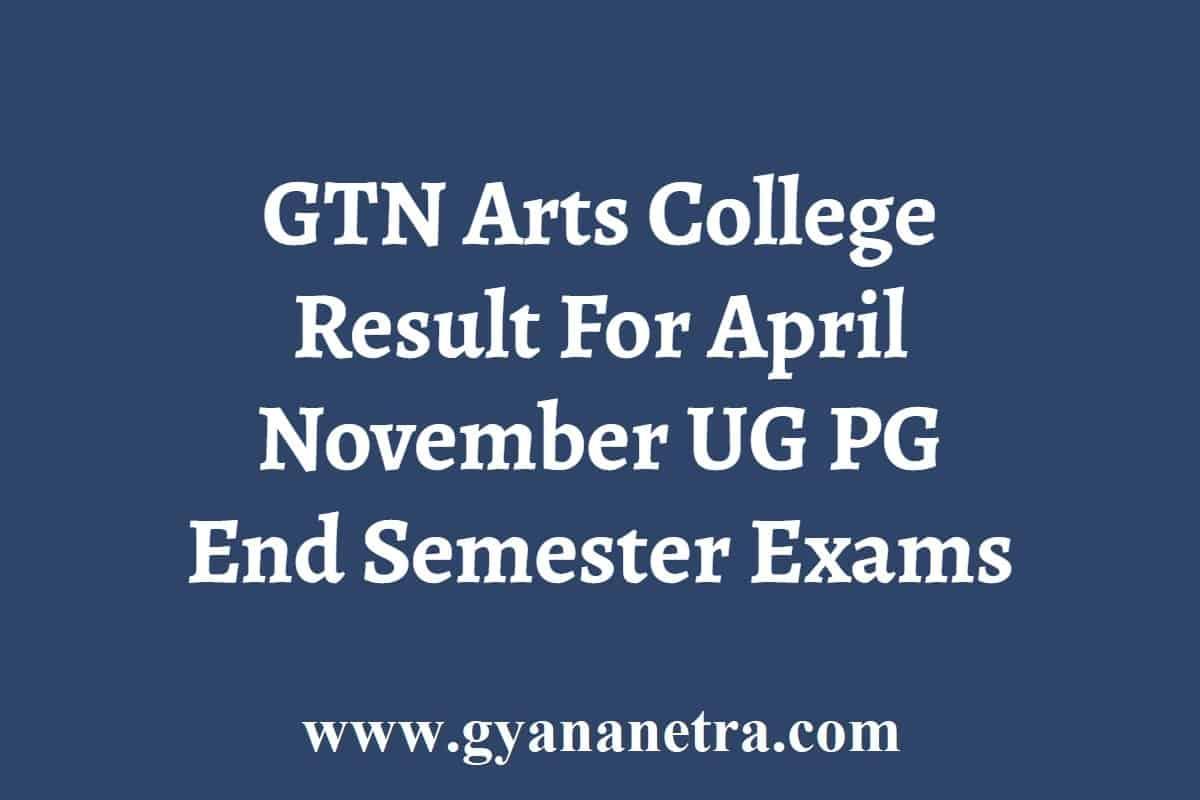 GTN Arts College Result