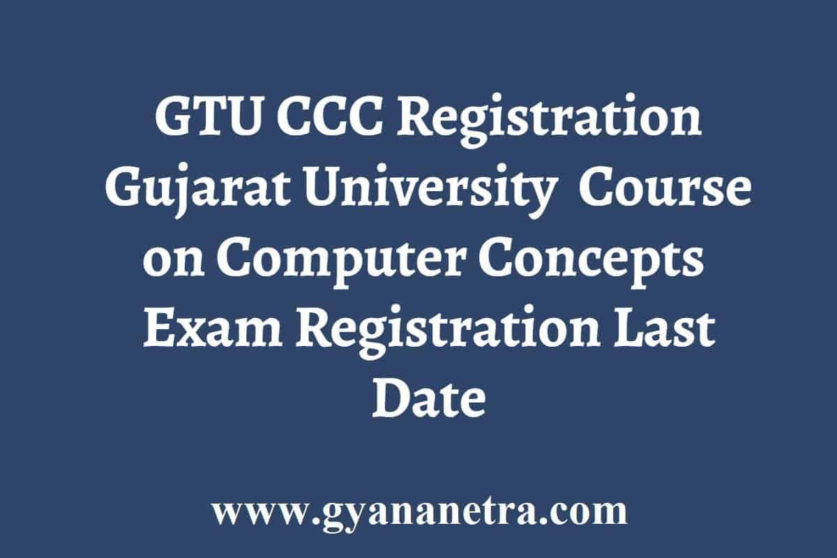 GTU CCC Registration