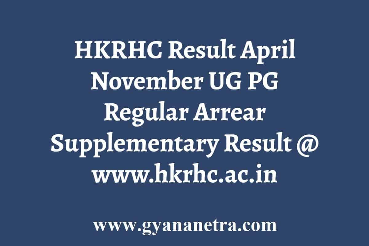 HKRHC Result