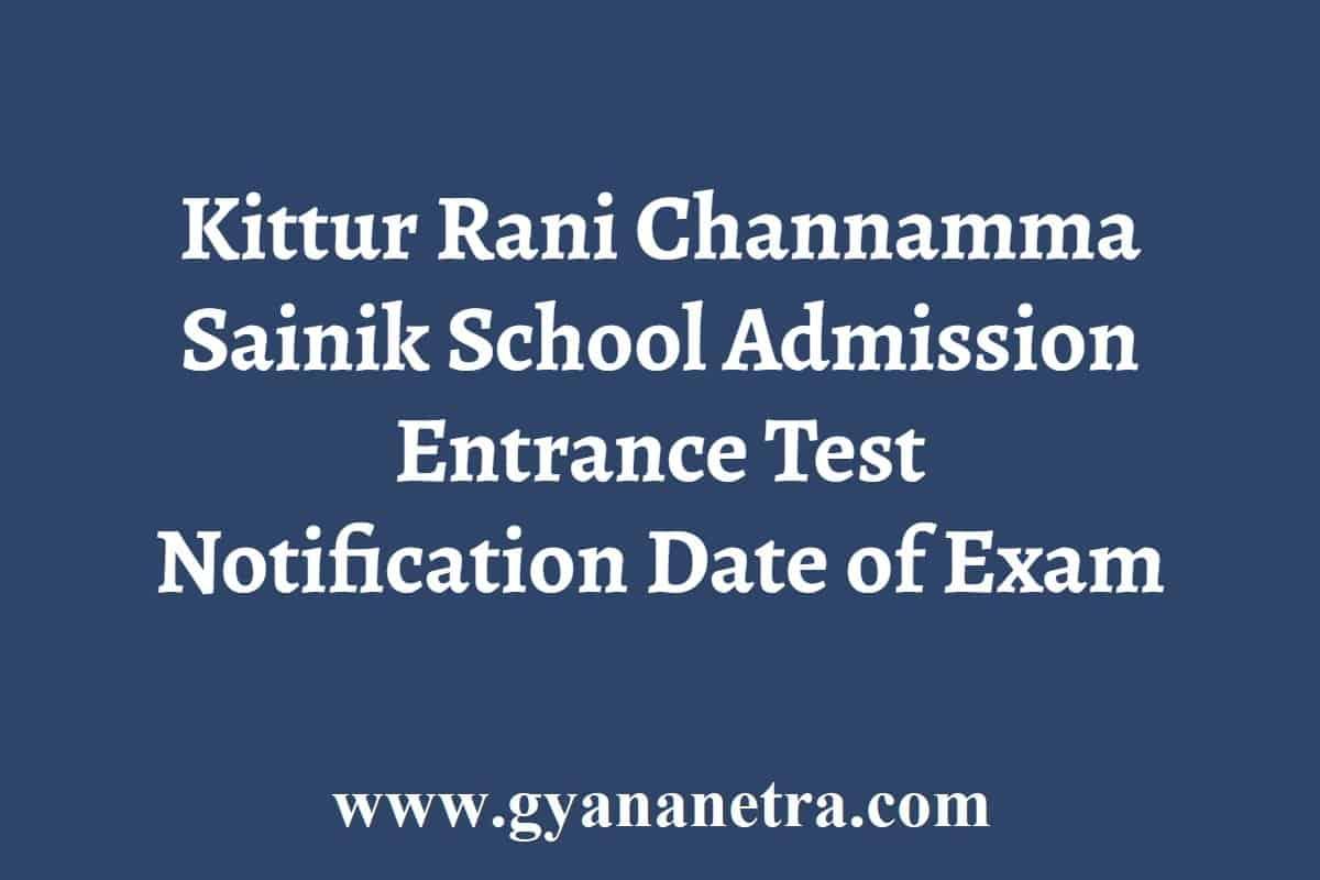 Kittur Rani Channamma Sainik School Admission
