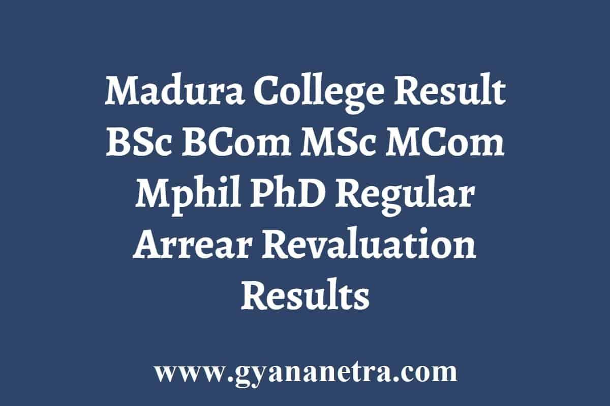 Madura College Result