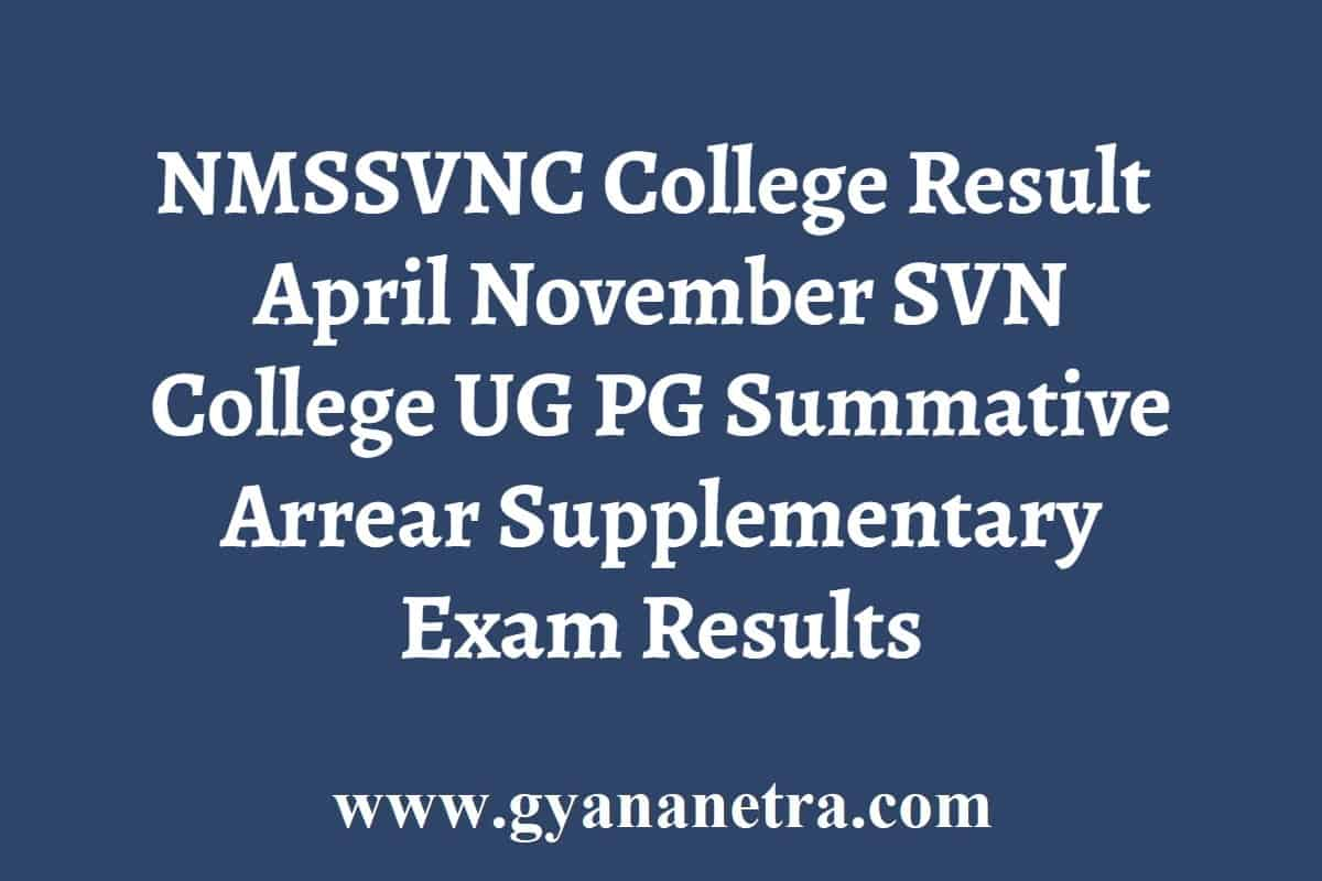 NMSSVNC College Result