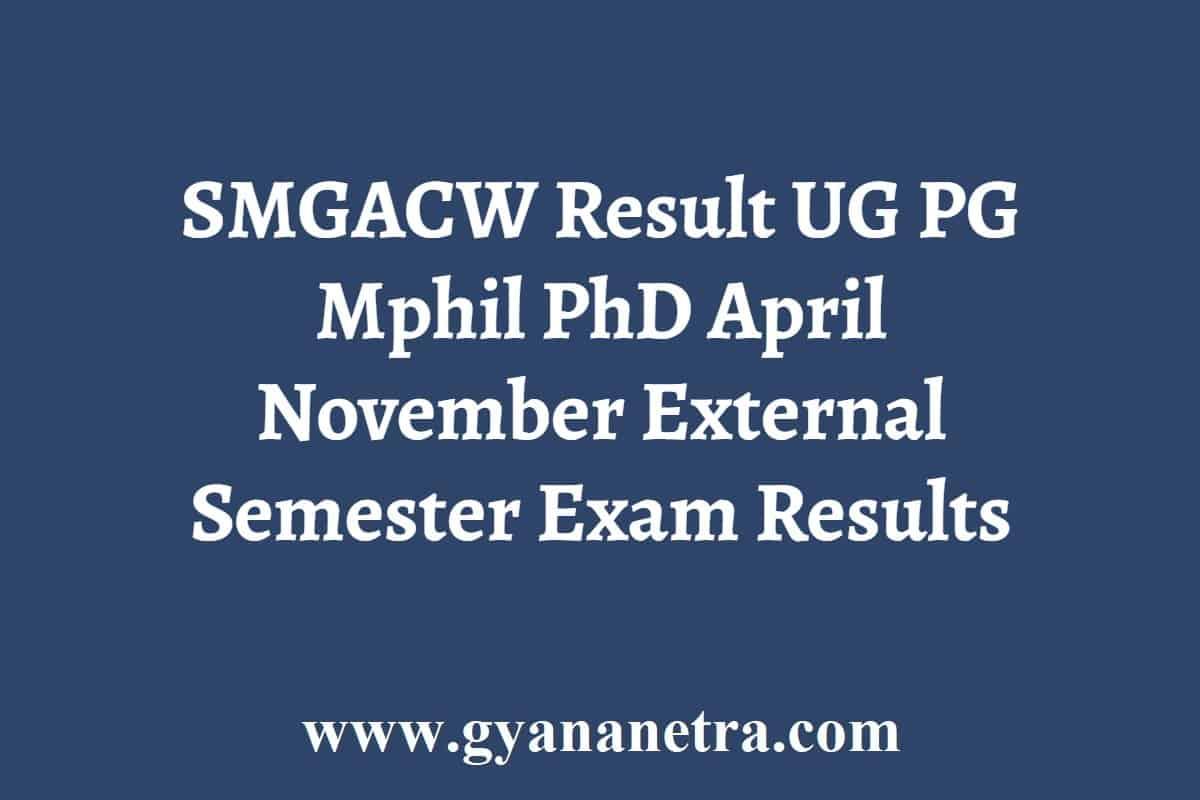 SMGACW Result