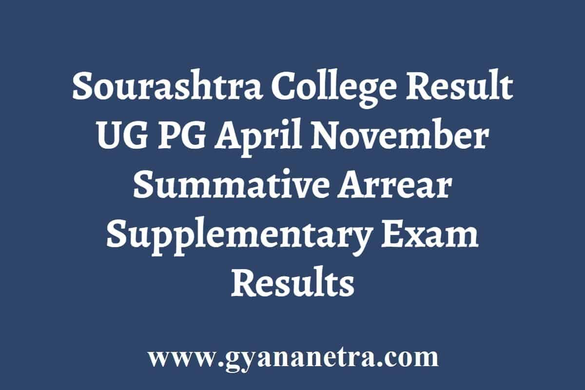 Sourashtra College Result