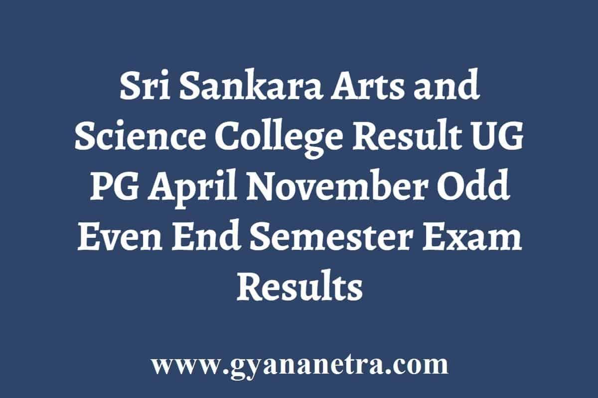 Sri Sankara Arts and Science College Result