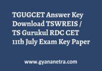 TGUGCET Answer Key PDF Download