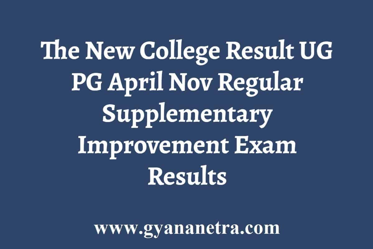 The New College Result