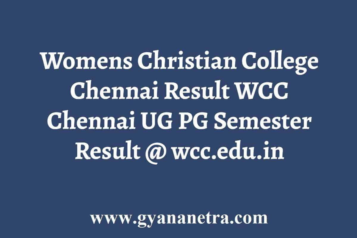 Womens Christian College Chennai Result