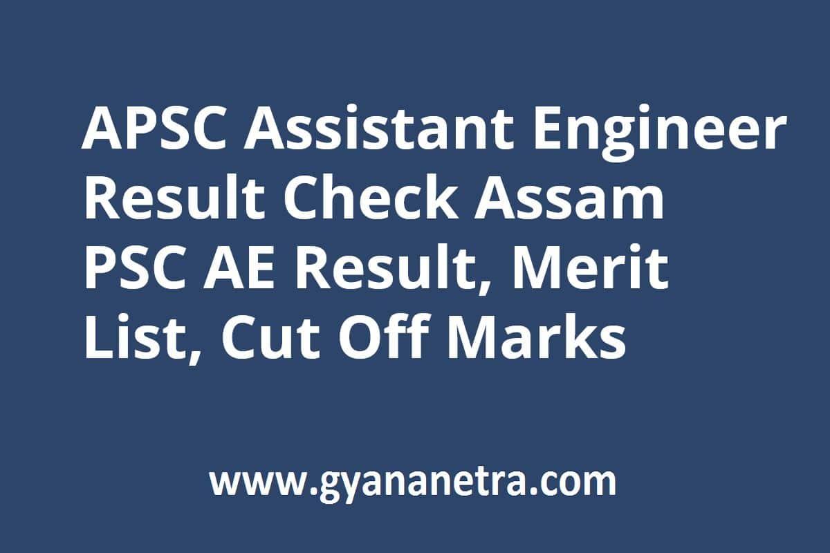 APSC Assistant Engineer Result Merit List