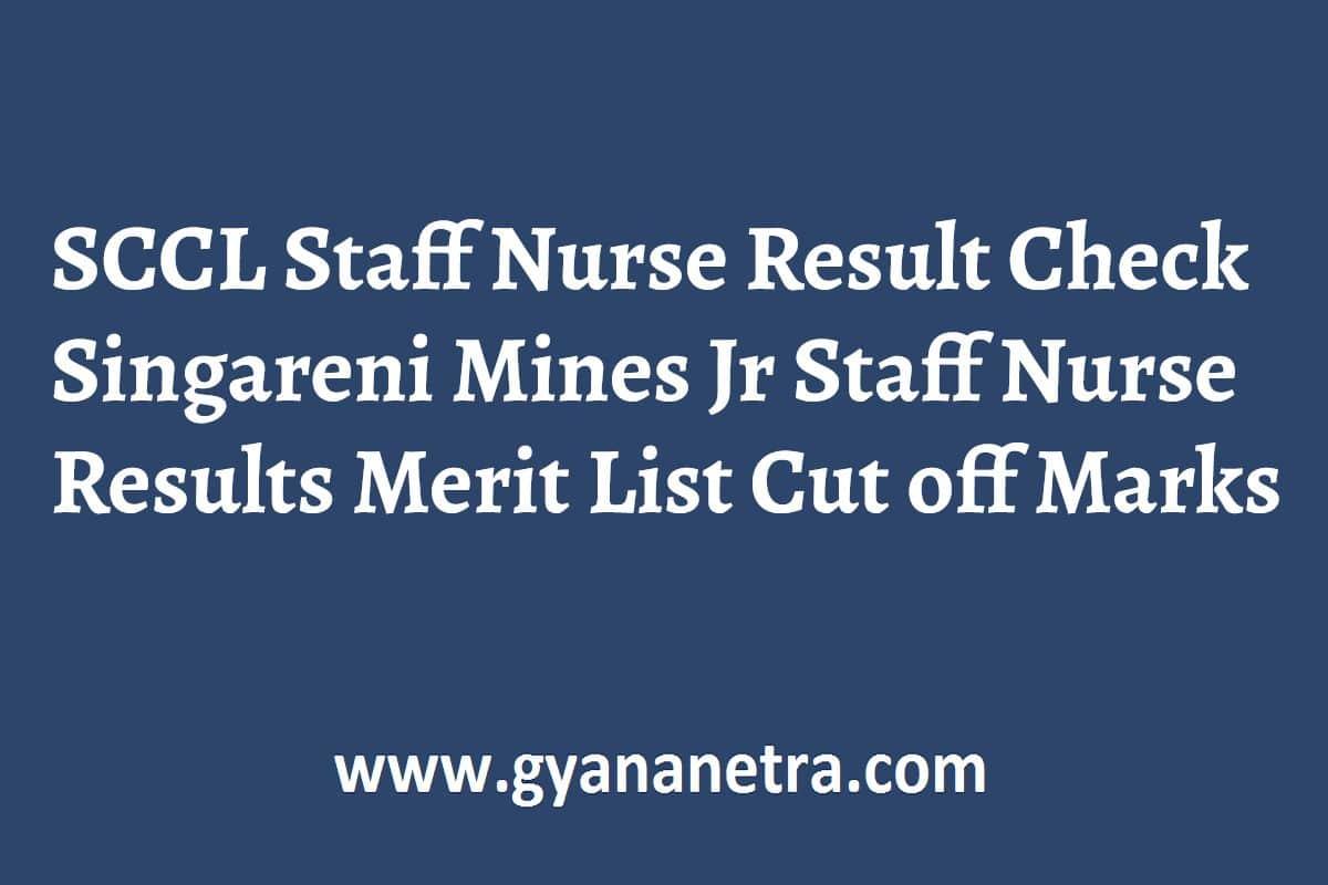 SCCL Staff Nurse Result Merit List