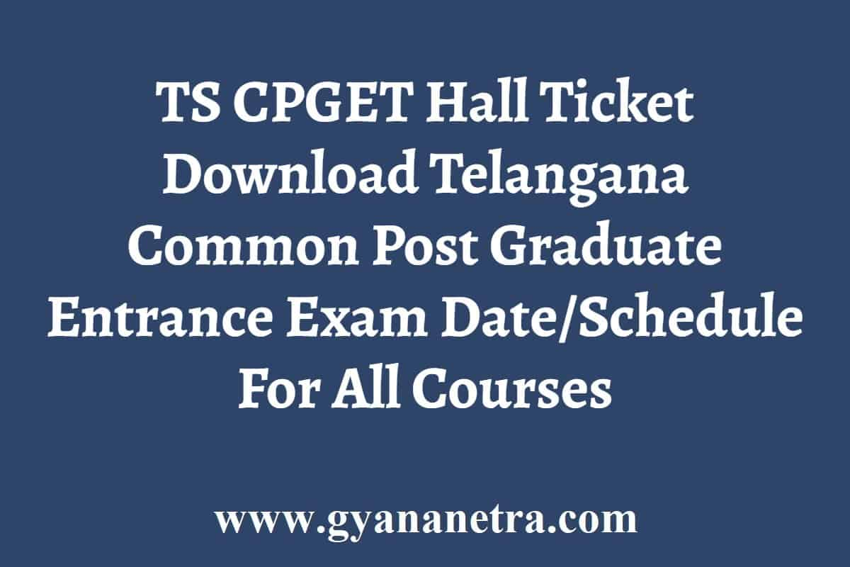 TS CPGET Hall Ticket Download