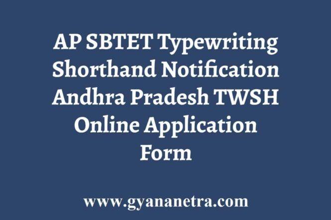 AP SBTET Typewriting Shorthand Notification