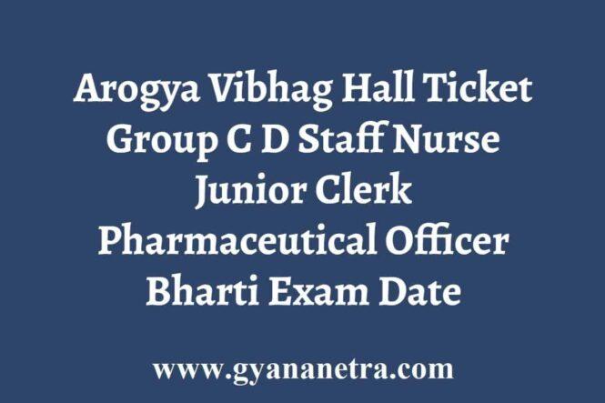 Arogya Vibhag Hall Ticket