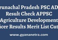 Arunachal Pradesh PSC ADO Result