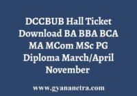 DCCBUB Hall Ticket