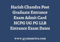 HCPG Admit Card